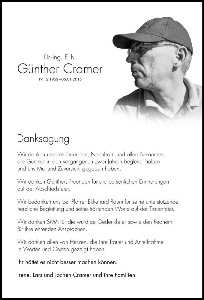 Traueranzeige für Günther Cramer vom 28.03.2015 aus HNA