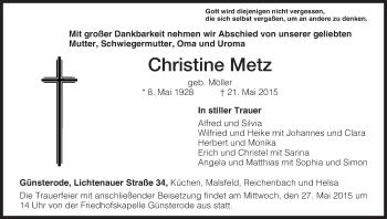 Zur Gedenkseite von Christine
