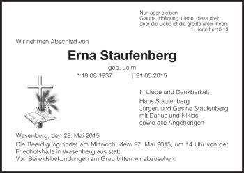 Zur Gedenkseite von Erna