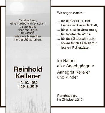 Zur Gedenkseite von Reinhold