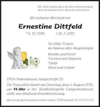 Zur Gedenkseite von Ernestine