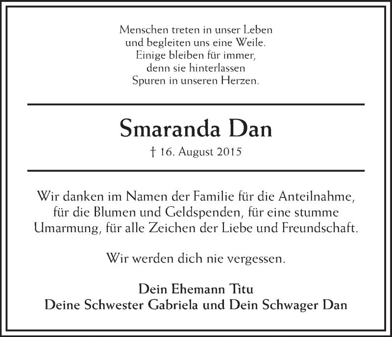 Anzeige von  Smaranda Dan