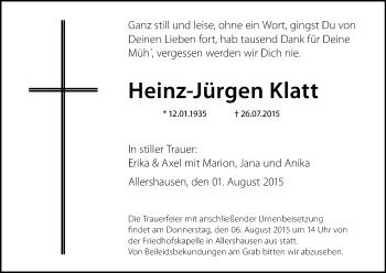 Zur Gedenkseite von Heinz-Jürgen