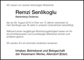 Zur Gedenkseite von Remzi