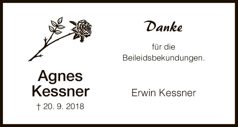 Traueranzeige für Agnes Kessner vom 18.10.2018 aus HNA
