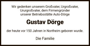 Traueranzeige für Gustav Dörge vom 15.05.2019 aus HNA