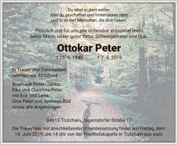 Traueranzeige für Ottokar Peter vom 12.06.2019 aus HNA