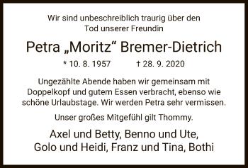 Traueranzeige von Petra Bremer-Dietrich von HNA