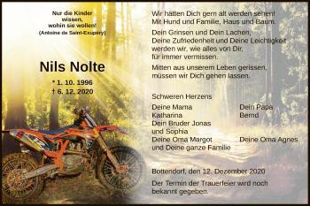 Traueranzeige von Nils Nolte von HNA