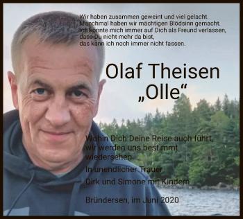 Traueranzeige von Olaf Theisen von HNA