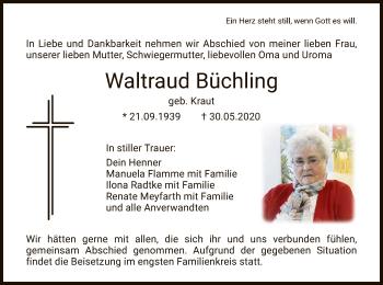 Traueranzeige von Waltraud Büchling von HNA
