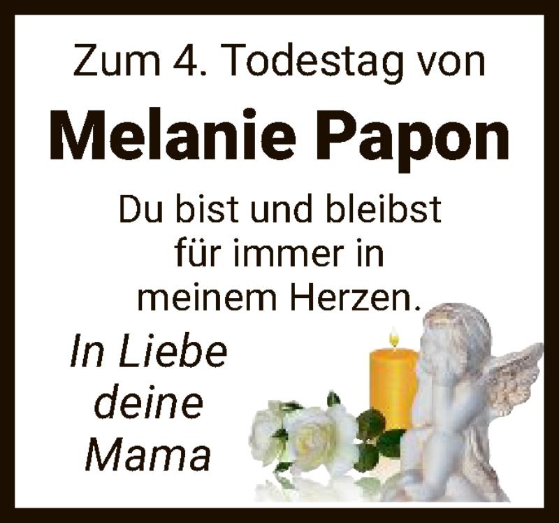 Traueranzeige für Melanie Papon vom 01.08.2020 aus HNA