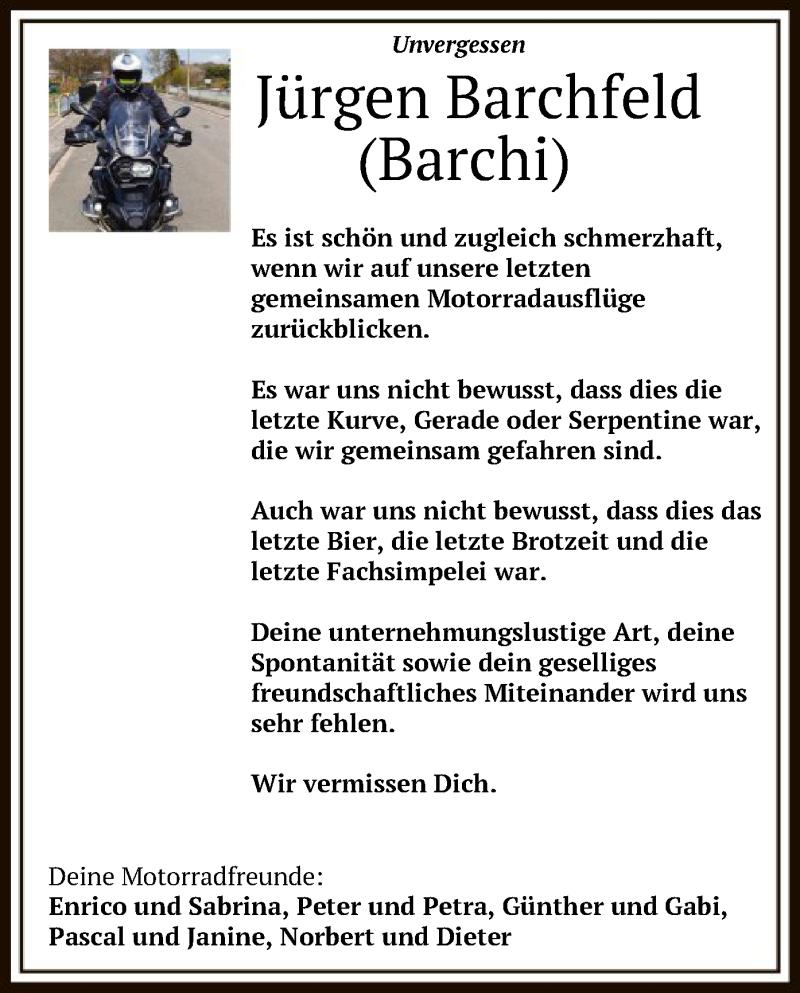 Traueranzeige für Jürgen Barchfeld vom 18.01.2021 aus HNA