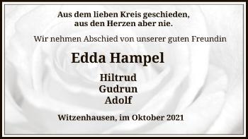Traueranzeige von Edda Hampel von HNA
