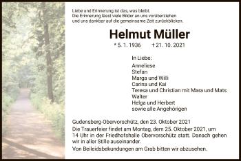 Traueranzeige von Helmut Müller von HNA