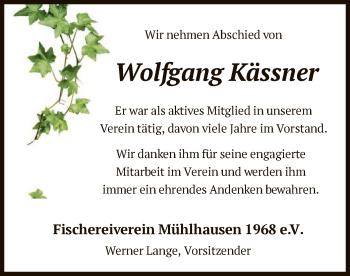 Traueranzeige von Wolfgang Kässner von HNA