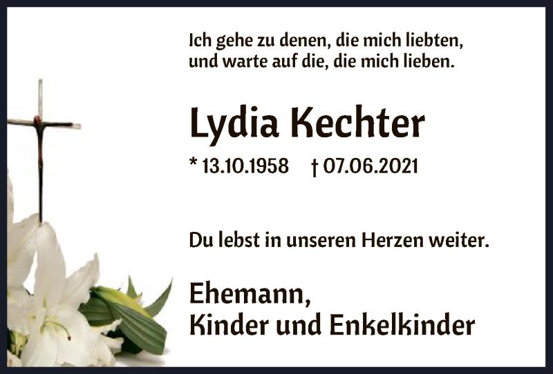 Traueranzeige für Lydia Kechter vom 11.06.2021 aus HNA