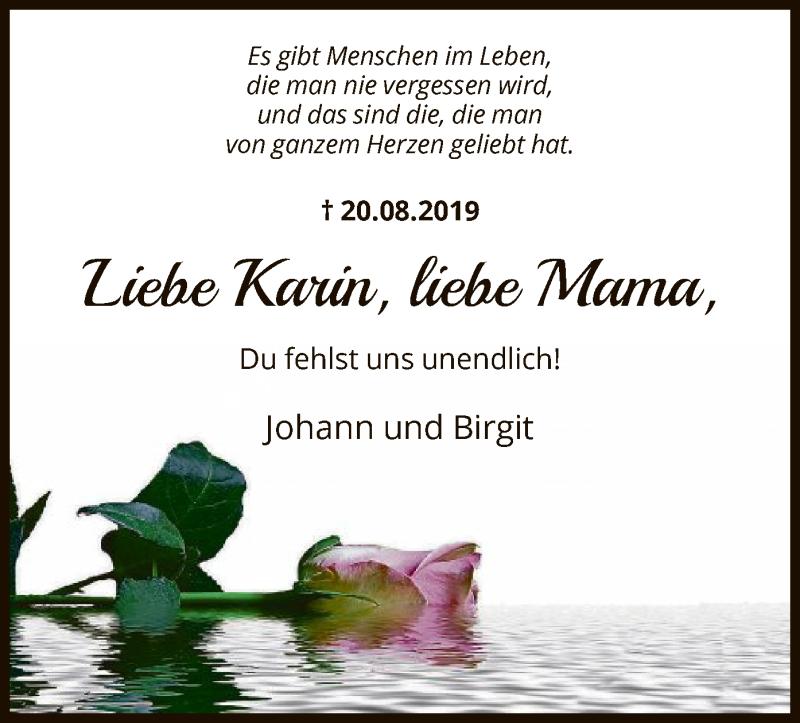 Traueranzeige für Karin Börstler vom 20.08.2021 aus HNA